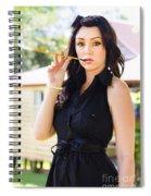 Vintage Fashion Glamour Spiral Notebook