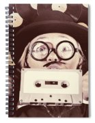 Vintage Music Woman Giving Thumb Up To Retro Songs Spiral Notebook