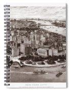Vintage New York 1903 Spiral Notebook