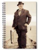 Vintage Traveling Business Man Spiral Notebook