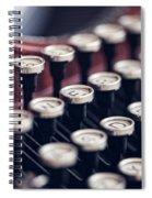 Vintage Typewriter Keys Spiral Notebook