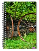 Vintage Wagon Wheel Gate Spiral Notebook