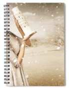 Vintage Woman Dreaming Of A Europe Travel Escape Spiral Notebook