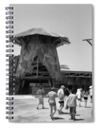 Visitors Heading Towards The Waterworld Attraction Spiral Notebook