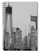 1 W T  C  And Lower Manhatten In Black And White Spiral Notebook