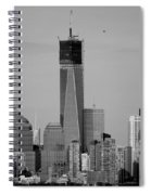 1 W T C Helos And Boats In Black And White Spiral Notebook