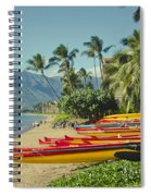 Kenolio Beach Sugar Beach Kihei Maui Hawaii  Spiral Notebook