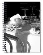 Waiting For Diners Bw Spiral Notebook