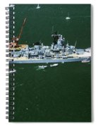 War Ship In New York Harbor, New York Spiral Notebook