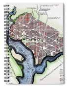 Washington, Dc, Plan, 1792 Spiral Notebook