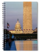Washington D.c. - Us Flags With Cropped Spiral Notebook