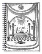 Washington Masonic Apron Spiral Notebook