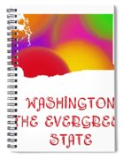 Washington State Map Collection 2 Spiral Notebook
