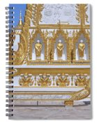 Wat Nong Bua West Side Of Main Stupa Base Dthu447 Spiral Notebook