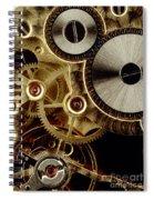 Watch Mechanism. Close-up Spiral Notebook
