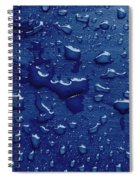 Water Drops On Metallic Surface Spiral Notebook