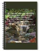 Watered Garden Spiral Notebook