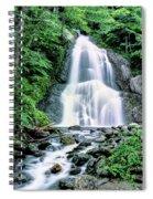 Waterfall In A Forest, Moss Glen Falls Spiral Notebook