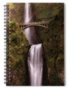 Waterfall In A Forest, Multnomah Falls Spiral Notebook