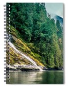 Waterfall Jervis Inlet Spiral Notebook