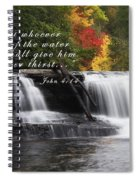 Waterfall With Scripture Spiral Notebook
