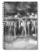 Waterfalls Childs National Park Painted Bw   Spiral Notebook