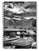 Waterfront At Ascona Spiral Notebook