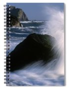 Waves Breaking On Shore Spiral Notebook