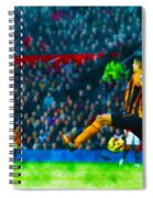 Wayne Rooney Of Manchester United Scores Their Second Goal Spiral Notebook