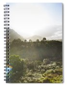 West Coast Range Landscape In Tasmania Australia Spiral Notebook