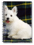 West Highland White Terrier Puppy Spiral Notebook