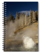 West Triplet Geyser Spiral Notebook