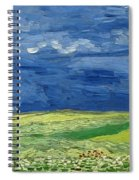 Wheatfield Under Thunderclouds Spiral Notebook