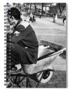 Wheel Barrel Man Spiral Notebook