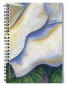 White Rose Two Panel Four Of Four Spiral Notebook