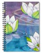 White Water Lilies Spiral Notebook