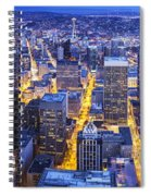 Wide Seattle Cityscape Spiral Notebook