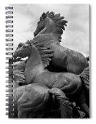 Wild Mustang Statue Spiral Notebook