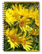 Wild Okanagan Sunflowers Spiral Notebook