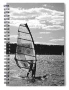 Wind Surfer Bw Spiral Notebook