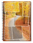 Winding Alley In Fall Spiral Notebook