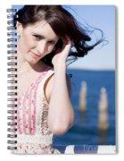 Windy Hair Woman Spiral Notebook