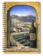 Wine And Lavender Spiral Notebook