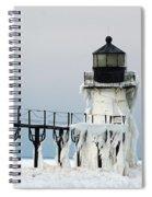 Winter At St Joseph's Light Spiral Notebook