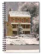 Winter Farm House Spiral Notebook