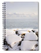 Winter Shore Of Lake Ontario Spiral Notebook