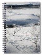 Winter Stream, Jasper National Park Spiral Notebook