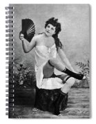 Woman And Fan, C1887 Spiral Notebook