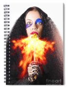 Woman Breathing Fire From Mouth Spiral Notebook