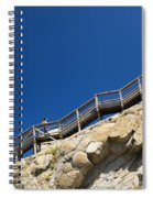 Woman Climbing Stairs Spiral Notebook